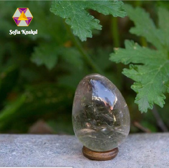 Huevo Yoni de Cuarzo Ahumado